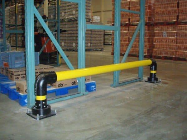 Bases slowstop bolardo tipo 2 protección de estanterías