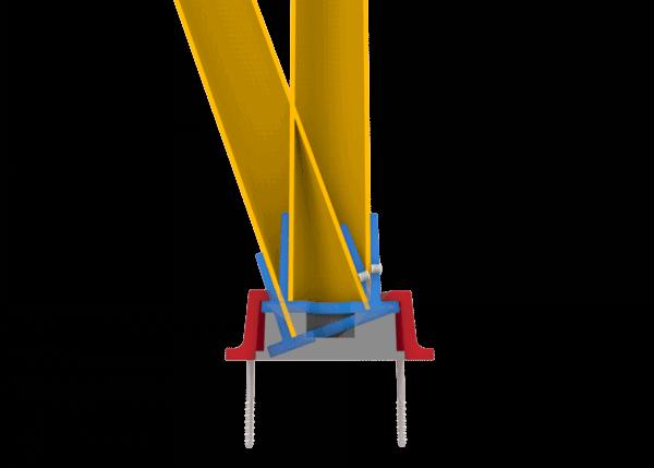 Bases slowstop bolardo tipo 2 impacto base