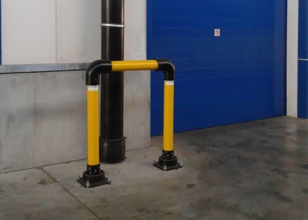 Bases slowstop bolardo tipo 2 protección de puerta