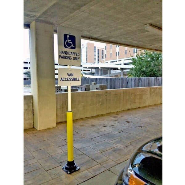 Bolardo SlowStop para postes señalizadores en parking