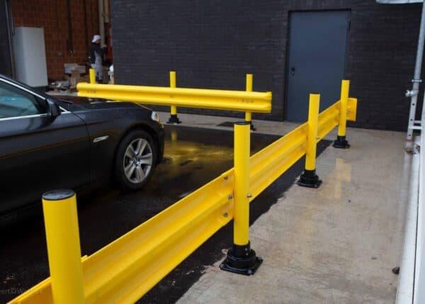Flexrail en un aparcamiento