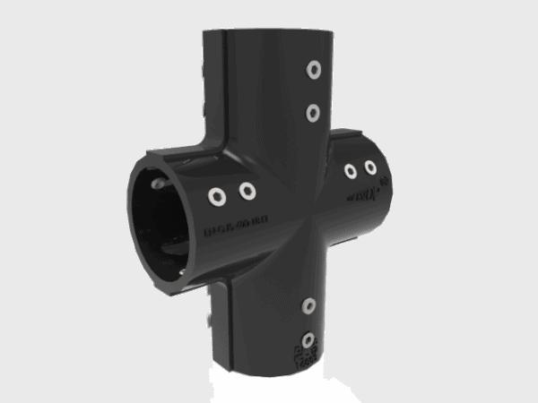 Conector en forma de cruz para bolardo